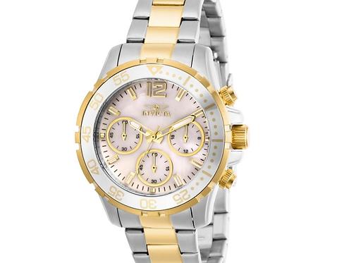 Invicta Women's 29458-777 Pro Diver Quartz Chronograph White Dial Watch
