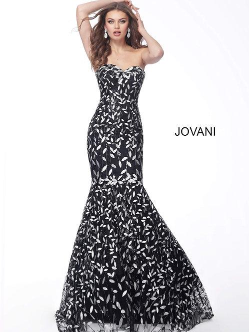 Black White Sweetheart Neckline Mermaid Evening Dress 55714