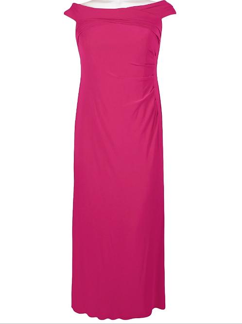 Adrianna Papell Boat Neck Cap Sleeve Dress