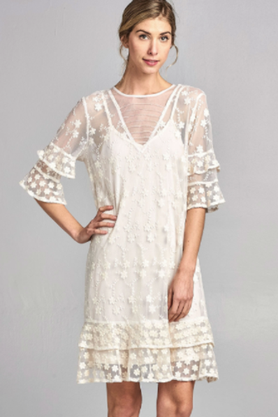 Flowers in Lace Designer Women Dress