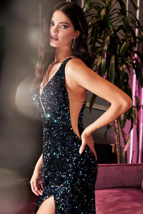 Iridescent Sequin Gown