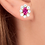 Thumbnail: 3 Ct Pink Topaz & Diamond Halo Studs