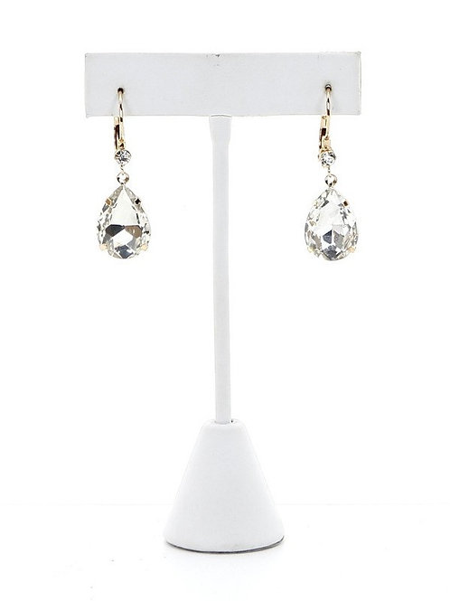Earrings, Drop Crystal