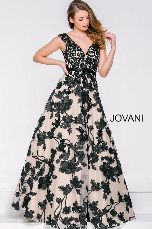 Black V-Neckline Sleeveless Dress 33351