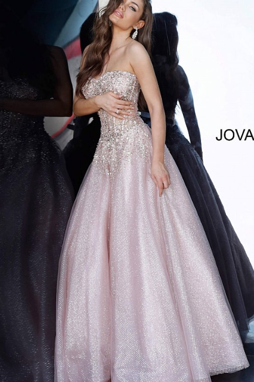 JOVANI Blush Corset Bodice Prom Ballgown 3621