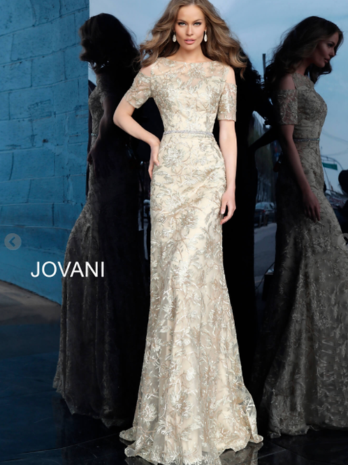 Jovani 63649 Form Fitting Embellished Mother of the Bride Dress