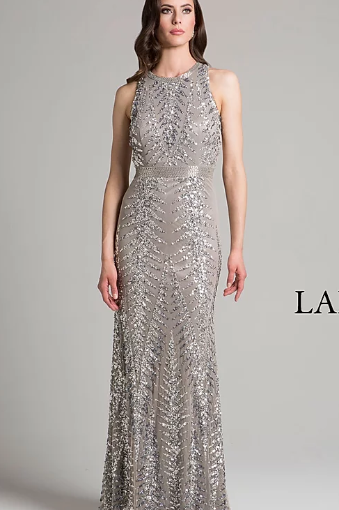 Stunning Sequin Sweep Neck With Back Detail