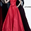 Thumbnail: JOVANI Red Strapless Pleated Bodice Evening Ballgown 66320