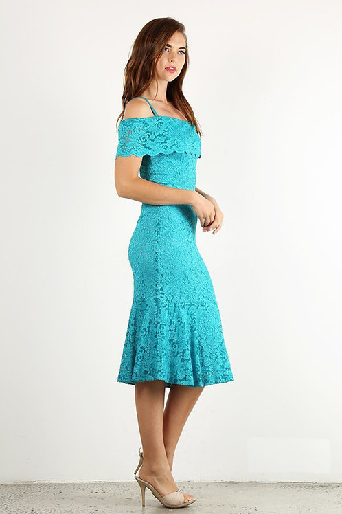 Strapless Neckline Cocktail Gown