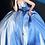 Thumbnail: JOVANI Blue Peated Bodice Metallic Prom Ballgown 2094