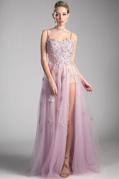 Long Dress With Scoop Neckline
