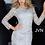 Thumbnail: JVN3217 Silver Lace Long Sleeves Dress