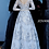 Thumbnail: Silver Long Sleeves Embroidered Evening Gown 66875