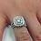 Thumbnail: 2 cttw Diamond Cushion Double Halo Engagement Wedding Ring Set