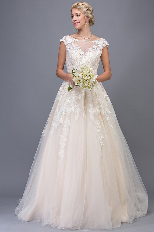 Wedding Gown Lace and Beaded