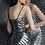 Thumbnail: Gunmetal Fully Beaded Fitted V Neck Short Dress 62485