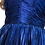 Thumbnail: V-Neck Stretch Satin Pleated Sheath Dress