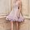 Thumbnail: Andrea & Leo Linear Bead/Sequin Embellishment W/Feathers Dress