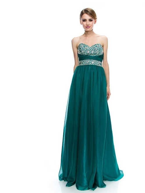 Strapless Sweetheart A-Line Gown