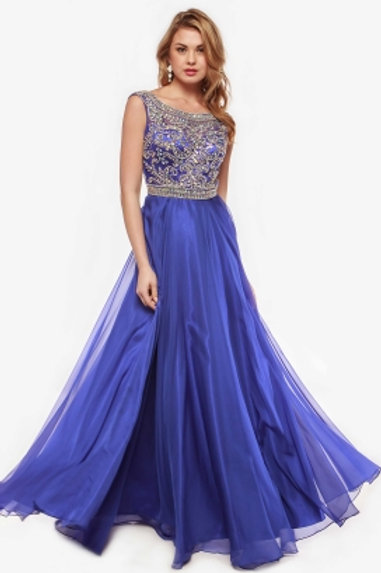 Prom Dress with Bateau Neck