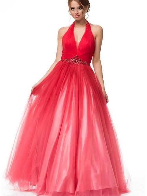 Halter Neck Evening Gown