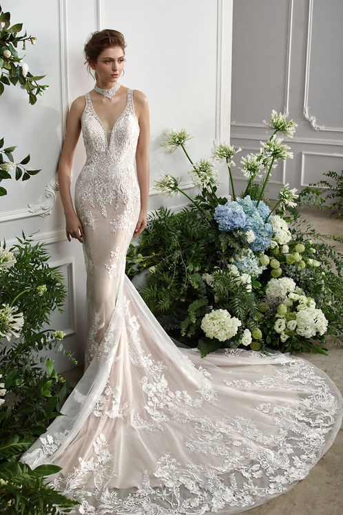 Mignon Manley Sigrun OJO Beaded Lace Bridal Gown