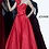 Thumbnail: Jovani Red Strapless Pleated Bodice Evening Ballgown