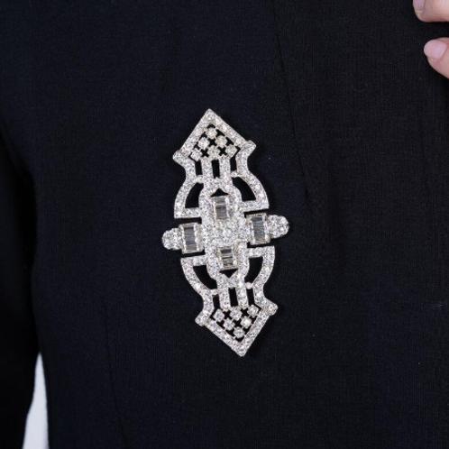 Crystal Baguette Deco Pin