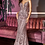 Thumbnail: Fitted Geometric Sequin Pattern Gown
