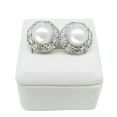 The Star Diamonds and Pearl Earrings