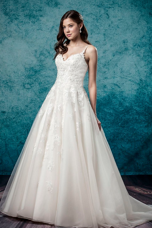 Mignon Manley Design Organza, Satin and Lace Bridal Gown