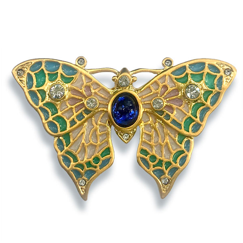 Russian Jeweled Butterfly Pin/Pendant