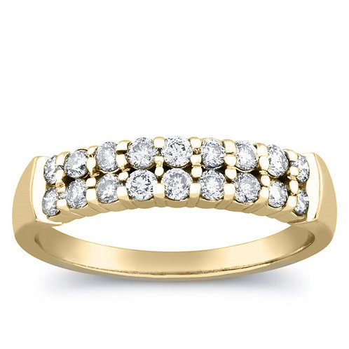 1/2 Carat Diamond Prong Anniversary Ring in 10k Gold