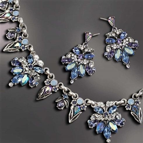 Retro 1950s Starlight Silver Necklace