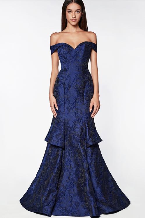 Brocade Mermaid Gown