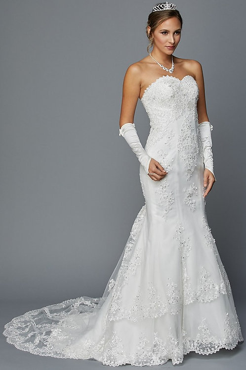Long Wedding Dress with Mitts
