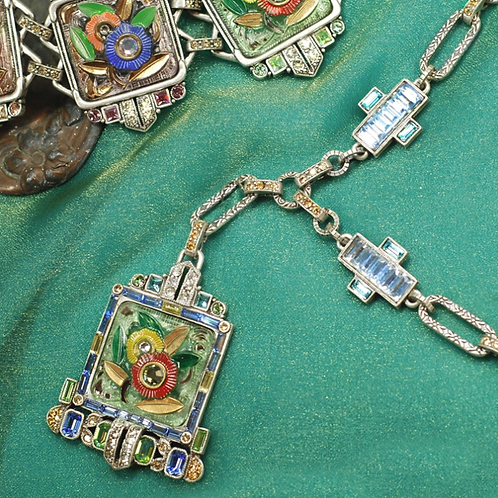 Art Deco Tropical Necklace