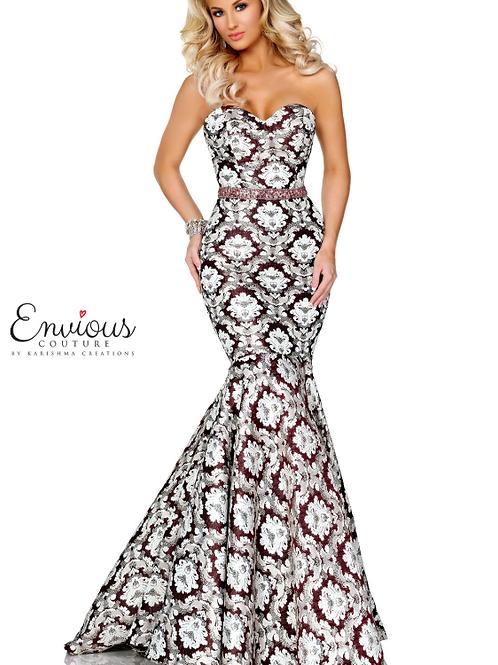 Stunning Beaded Brocade Gown