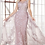 Thumbnail: Fitted Lace Applique Gown W Overskirt & Cap Sleeves