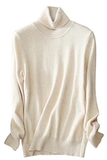 Cashmere Turtleneck Knit Sweater