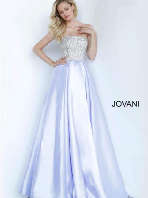 Lilac Strapless A Line Long Jovani Girls Dress K66689