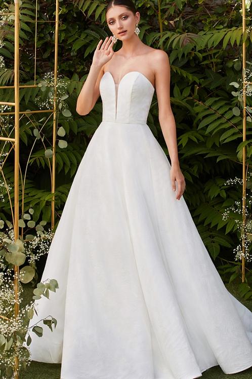 Cinderella Divine Strapless Off-white Bridal Gown With Glitter
