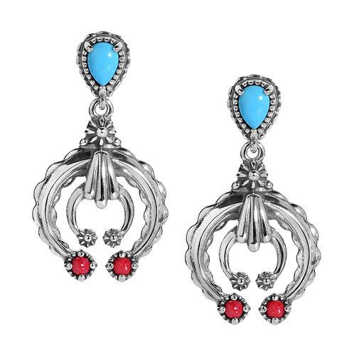 Mulit-Gemstone Naja Earrings Sterling Silver