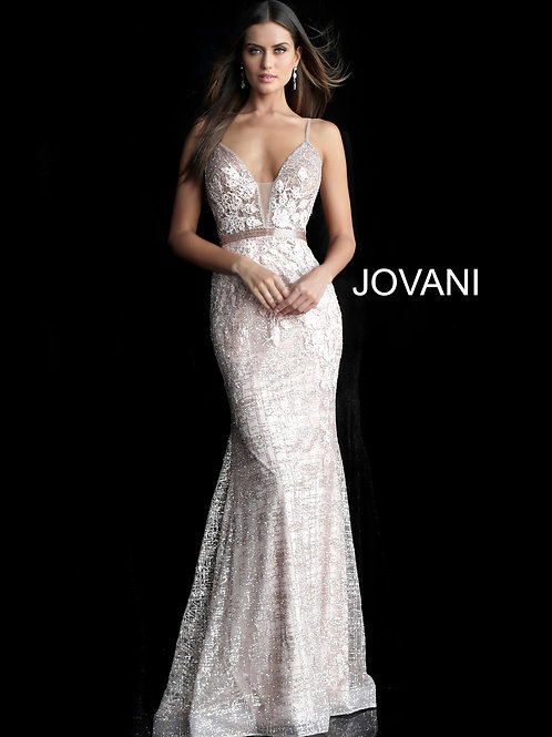 Rose Gold Mermaid Prom Dress 62517