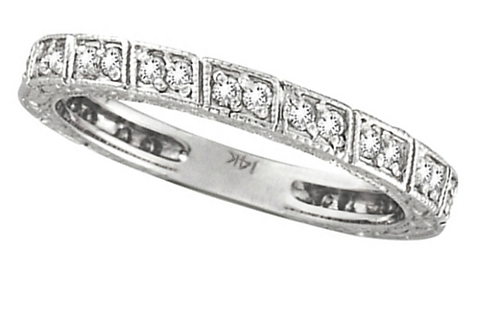Mignon Manley Diamond Stackable Anniversary Band