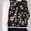 Thumbnail: Adrianna Papell Crew Neck Sleeveless Floral Embroidered Crepe Top Ruched Mesh Dr