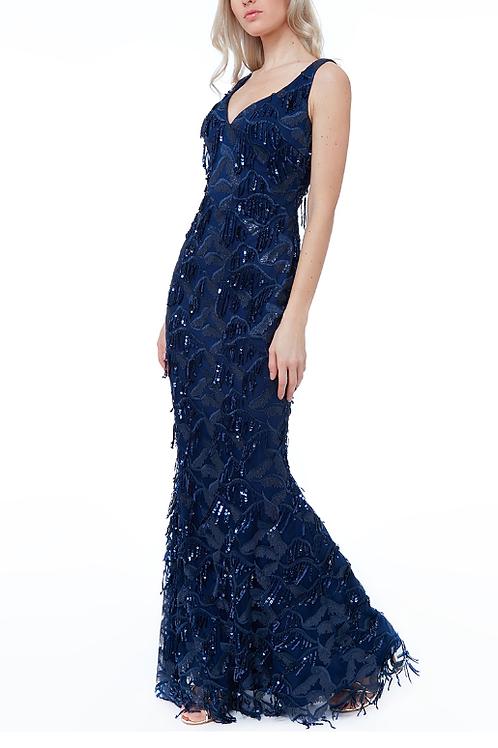 Mignon Manley Sequin Evening Gown