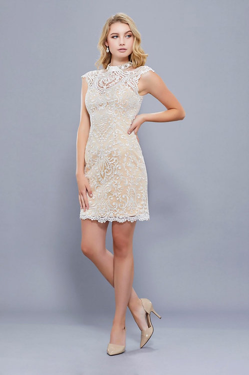 Short Sheath Embroidery  Party Dress