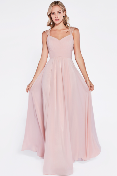 A-line Tulle Dress Evening / Bridesmaid In Colors, Blush, Navy, Sage.