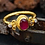 Thumbnail: Mignon Manley Ruby And Topaz 24 K Gold Over Sterling Ring